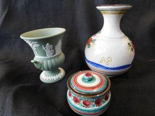Vases  2 ea    Trinket Dish