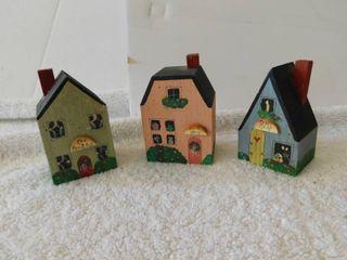 Three Miniature Houses