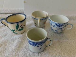 Miniature Teacup lot  1  4 ea