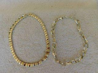 Vintage Silvertone Necklaces  2 ea