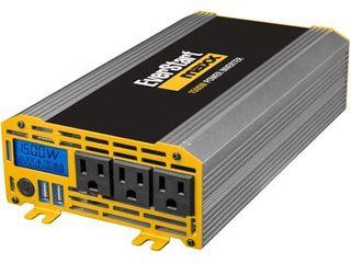 Everstart MAXX 1500 Watt Automotive Power Inverter w USB Power and Digital Display  PC1000E