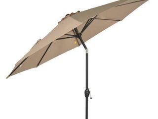 Mainstays 9FT Outdoor Tilt Market Patio Umbrella   Tan
