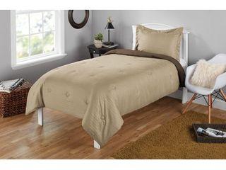 Mainstays Seersucker Twin or Twin Xl Solid Reversible Mini Comforter Set  2 Piece