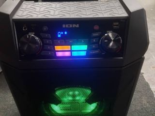 ION Party Boom FX High Power Rechargeable Speaker with lights