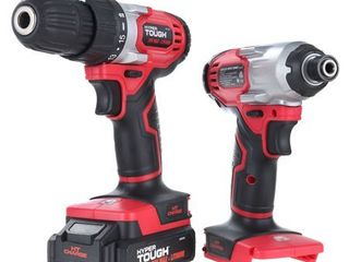Hyper Tough 20 Volt Max lithium ion Cordless 2 Tool Combo Kit