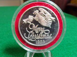 1993 1 TROY OZ   999 FINE SIlVER ROUND