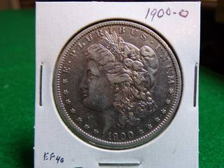 1900 O MORGAN SIlVER DOllAR EF40