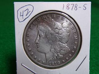 1878 S MORGAN SIlVER DOllAR