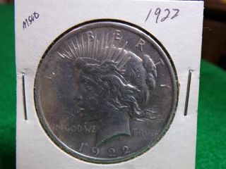 1922 PEACE SIlVER DOllAR MS60