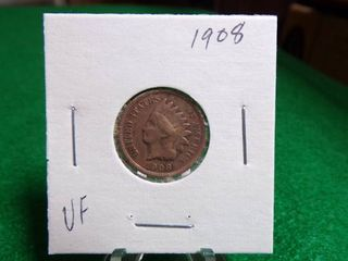 1908 INDIAN HEAD PENNY   VF