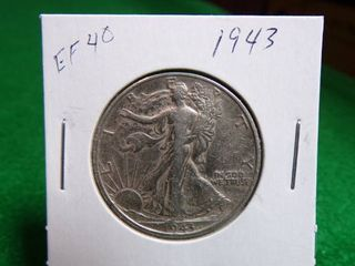 1943 WAlKING lIBERTY HAlF EF40