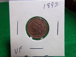 1892 INDIAN HEAD PENNY VF