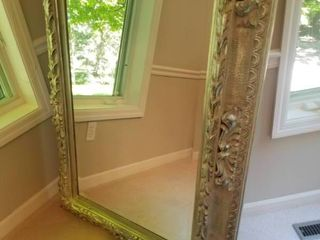 Large Opulent Silver Wash Wall Mirror