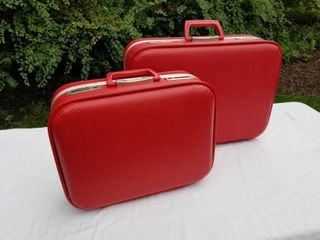 Pair of Two Vintage Suitcases