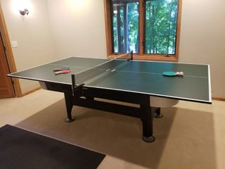 Combination Sportcraft Air Hockey Table and Ping Pong Table