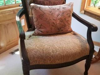 Chic Carved Bergere Arm Chair by Bernardt