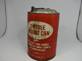 Vintage 2-Cycle Mixing Can