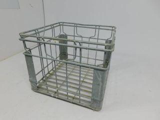 Vintage Norris Metal Milk Crate