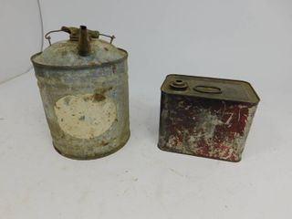 Vintage Silver Oil Can / Cream Separater Can
