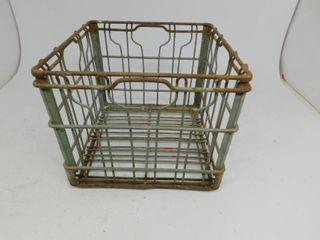 Vintage Franklin Metal Milk Crate