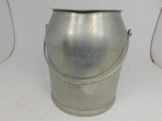 Vintage Rustic Stainless Steel Milk Can/Bucket