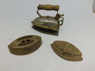 Vintage Simplex Metal Sad Iron Stand with Steel Electric Iron Press