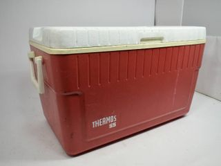 Vintage Thermos 55 Red/White Plastic Cooler