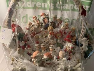 BASKET OF FIGURINES