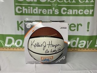 BASKETBALL SIGNED BY UT WOMENS COACH KELLY HARPER