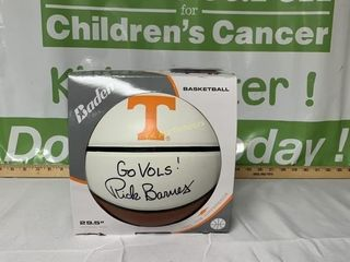 BASKETBALL SIGNED BY UT MENS COACH RICK BARNES