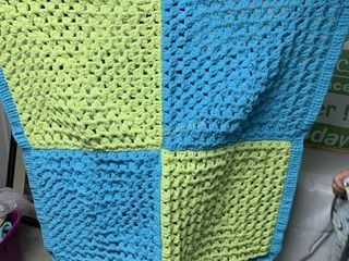 HANDMADE CROCHETED 40X40 BABY BLANKET
