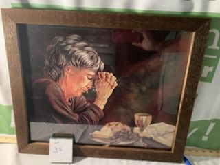 REIN GRANDMA PRAYING PRINT