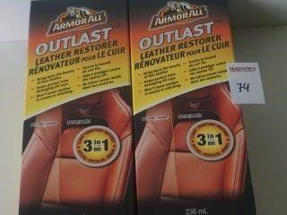 2PACK ARMORALL OUTLAST LEATHER RESTORER