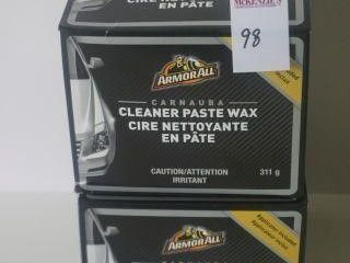 2PACK ARMORALL CLEANER PASTE WAX