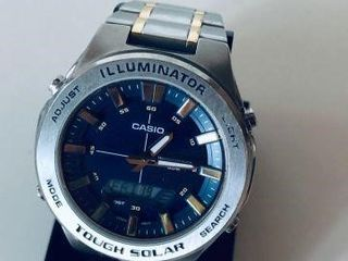 CASIO ILLUMINATOR MENS ANALOG DIGITAL WATCH -USED