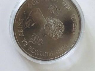 SILVER GOVERNOR GENERALS COIN 25 YEARS / GOD SAVE