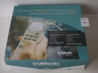TRUE MEDIC ELECTRONIC TENS UNIT PULSE STIMULATOR