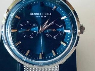 KENNETH COLE MENS BLUE DIAL MESH BRACELET WATCH-US