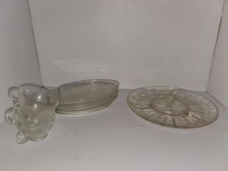 Serving Tray  Cups    Plates
