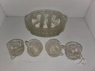 Glass Snack Sets