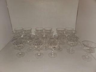 20   Crystal Short Stem Glasses