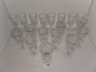 20 piece Crystal Stemware