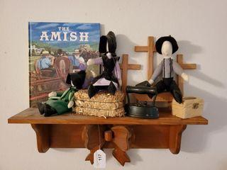 Shelf w  Amish Dolls   Book
