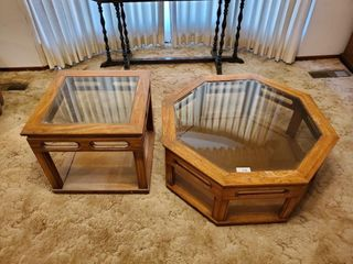 2   Glass Top Tables