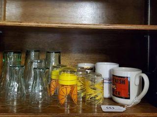 Coca Cola Glasses  Contents of Shelf