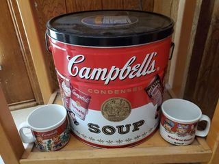 Campbell Soup 1900 Cannister  Soup Mugs