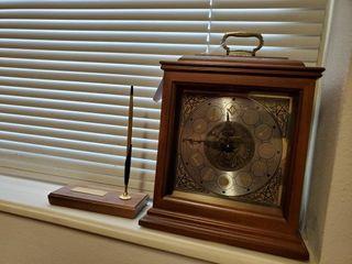Masonic lodge Clock   Pen Holder