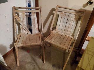2   Wood Chairs