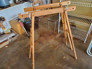 2   Wood Saw Horses