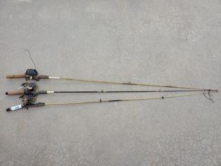 3   Daiwa   Zebco Fishing Poles